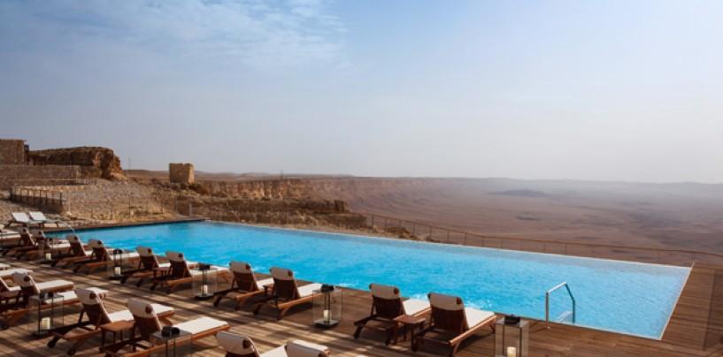 Luxury отель у кратера в пустыне