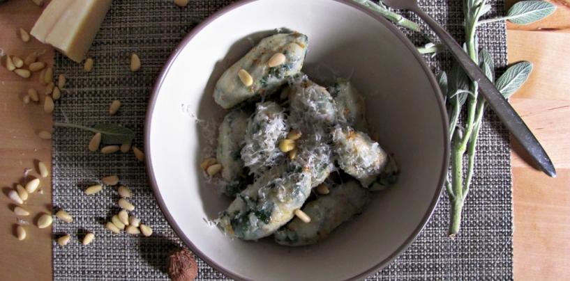 Мальфатти с сыром рикотта и шпинатом