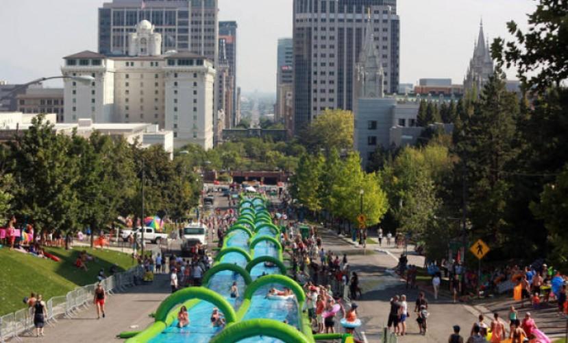 1 июля в Петах-Тикве будет открыт водный аттракцион Slide the City