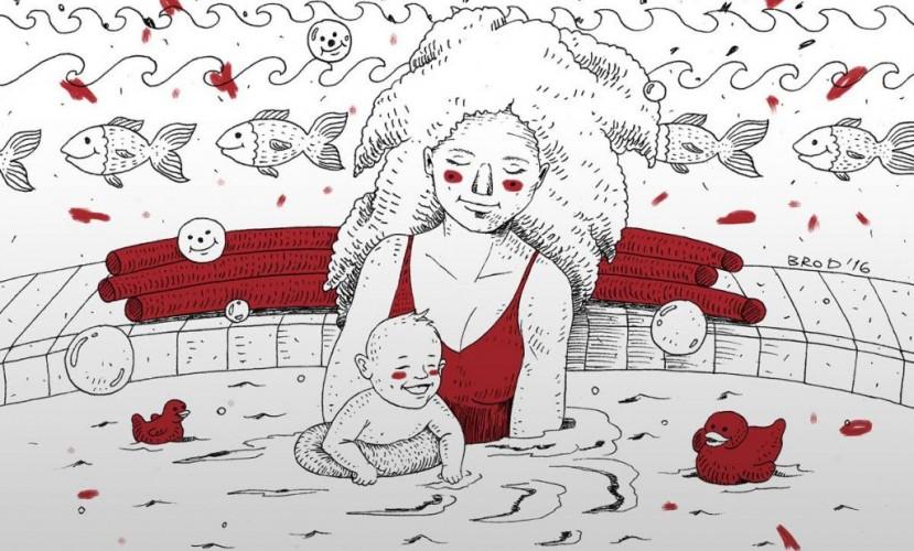 В бассейн с рождения
