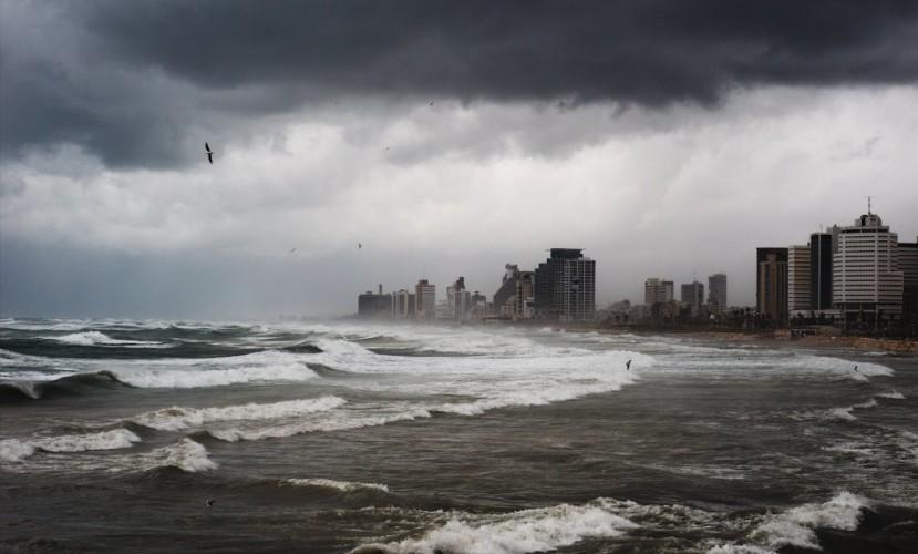 Дождь в Тель-Авиве (Январь 2015)