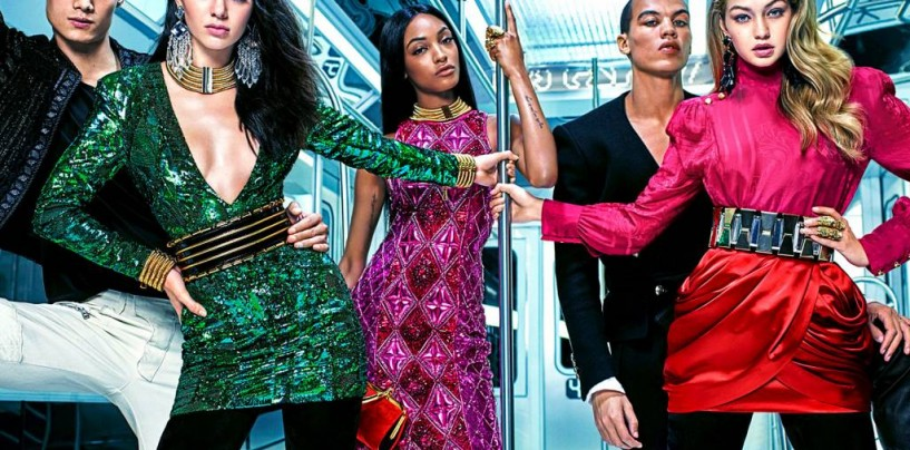 Вышел лукбук новой коллекции Balmain x H&M