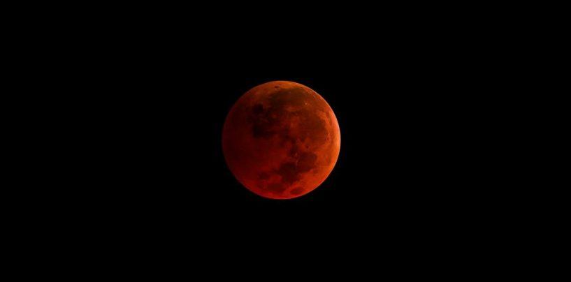 «Голубое кровавое суперлуние» над Израилем